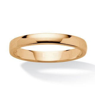 Toscana Collection High Polish Yellow Gold Over Silver Wedding Band