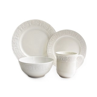 American Atelier Calista White 16-piece Dinner Set