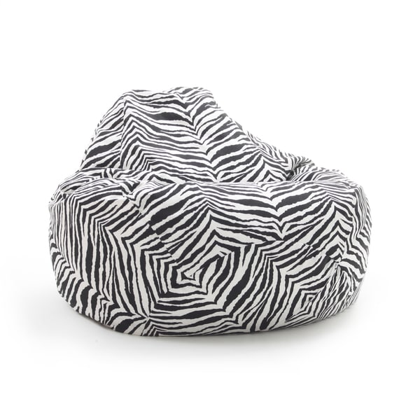 BeanSack Large Tear Drop Zebra Print Bean Bag Lounge Chair