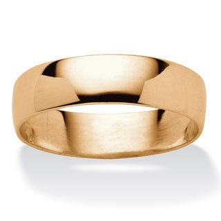 Toscana Collection 14k Yellow Gold Over Silver Wide Wedding Band