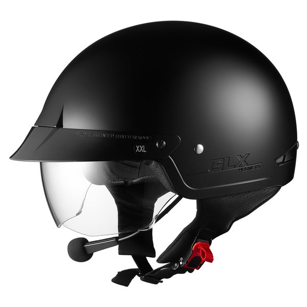 M14 Sniper Bluetooth Half Helmet with Retractable Sun Shield