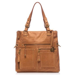 Lucky Brand Cargo Leather Fold Over Tote Hangbag