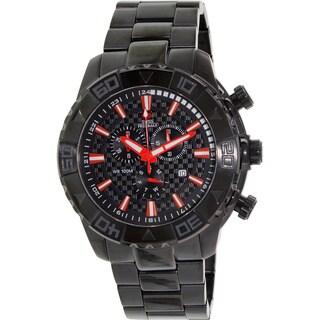 Swiss Precimax Men's SP13362 Black Stainless Steel Black Dial Swiss Quartz Watch