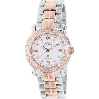 Swiss Precimax Women's Tribeca Diamond SP13331 Two-tone Stainless Steel Mother-Of-Pearl Dial Swiss Quartz Watch