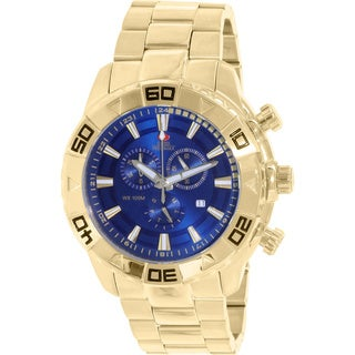 Swiss Precimax Men's SP13363 Gold Stainless Steel Blue Dial Swiss Quartz Watch