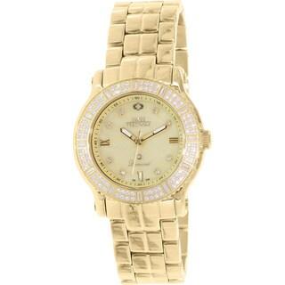 Swiss Precimax Women's Tribeca Diamond SP13329 Gold Stainless Steel Mother-Of-Pearl Dial Swiss Quartz Watch