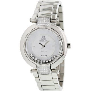 Swiss Precimax Women's Allure SP13351 Silvertone Mother-Of-Pearl Dial Swiss Quartz Watch