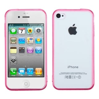 BasAcc Clear Gel Stiff TPU Gummy Candy Skin Case Cover for Apple iPhone 4/4s