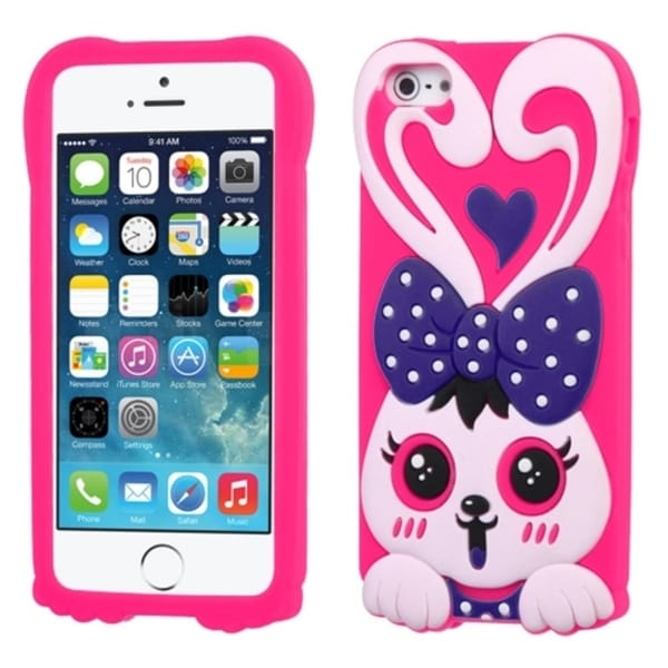 INSTEN Rabbit Cute Pastel Soft Silicone Skin for Apple iPhone 5/ 5C/ 5S/ SE 13103694