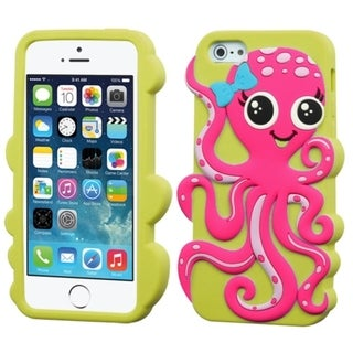 BasAcc Octopus Cute Pastel Soft Silicone Skin for Apple iPhone 5/5c/5s