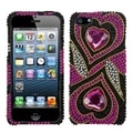 INSTEN 3D Diamante Bling Beads Protector Phone Case Cover for Apple iPhone 5/ 5S