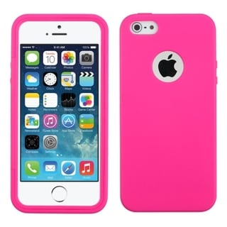 INSTEN Design Gel Stiff TPU Gummy Candy Skin Phone Case Cover for Apple iPhone 5/ 5s