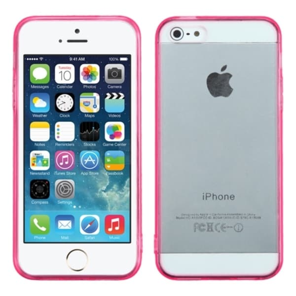 INSTEN Clear Gel Stiff TPU Gummy Candy Skin Phone Case Cover for Apple iPhone 5/ 5s 13103740