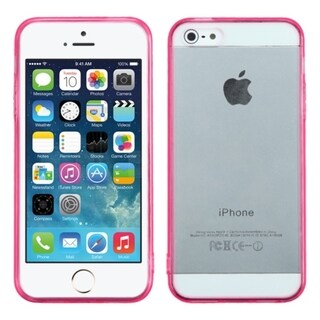 INSTEN Clear Gel Stiff TPU Gummy Candy Skin Phone Case Cover for Apple iPhone 5/ 5s
