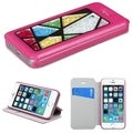 INSTEN Colorful Beads Inside Card Slot Leather Phone Case CoverApple iPhone 5/ 5S