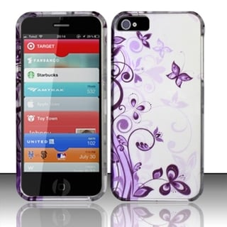 BasAcc Rubberized Design Plastic Hard Protector Case Cover for Apple iPhone 5/5s