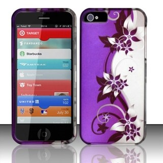 INSTEN Rubberized Design Plastic Hard Plastic Protector Phone Case Cover for Apple iPhone 5/ 5S/ SE