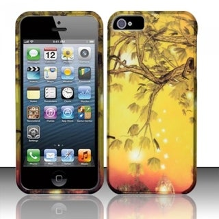 INSTEN Rubberized Design Plastic Hard Plastic Protector Phone Case Cover for Apple iPhone 5/ 5s
