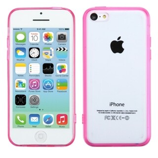 INSTEN Clear Gel Stiff TPU Gummy Candy Skin Phone Case Cover for Apple iPhone 5C