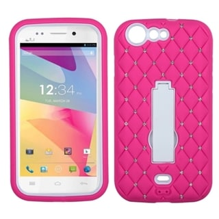 BasAcc Diamonds Stand Dual Layer Hybrid Case Cover for BLU Life One L120