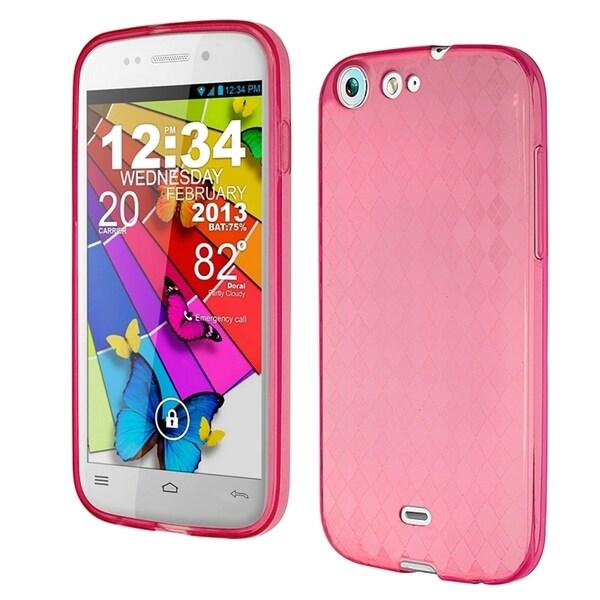 INSTEN Design Gel Stiff TPU Gummy Candy Skin Phone Case Cover for BLU Life One L120