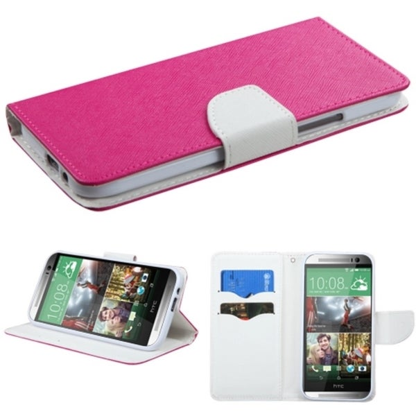 INSTEN Card Slots Colorful Book-style Leather Phone Case Cover for HTC One 2 M8