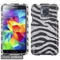 BasAcc 3D Diamante Bling Beads Protector Case Cover for Samsung Galaxy S5