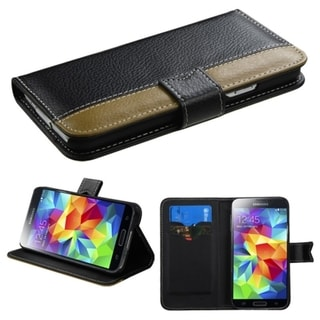 BasAcc Card Slots Book-style Leather Case Cover for Samsung Galaxy S5