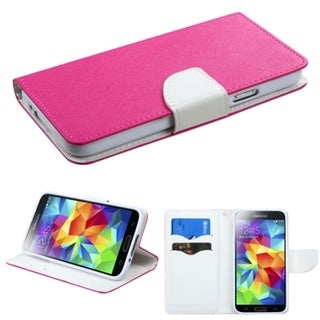 BasAcc Card Slots Colorful Book-style Leather Case for Samsung Galaxy S5