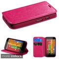 INSTEN Card Slots Colorful Book-style Leather Phone Case Cover for Motorola Moto G