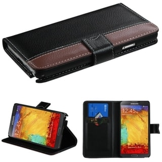 BasAcc Card Slots Book-style Leather Case Cover for Samsung Galaxy Note 3