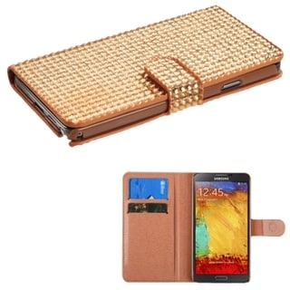 BasAcc Diamonds Card Slots Book-style Leather Case Cover for Samsung Galaxy Note