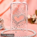 BasAcc 3D Diamante Crystal Bling Beads Case Cover for Samsung Galaxy S3