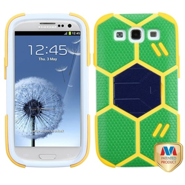 INSTEN Rugged World Cup Goal Keeper Brazil Football Dual Layer Hybrid Phone Case Cover for Samsung Galaxy S3
