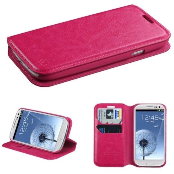 INSTEN Card Slots Colorful Book-style Leather Phone Case Cover for Samsung Galaxy S3/ SIII