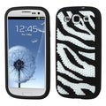 INSTEN Colorful Zebra Spike Soft Silicone Skin for Samsung Galaxy S3