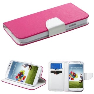 BasAcc Card Slots Colorful Book-style Leather Case for Samsung Galaxy S4