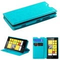 BasAcc Card Slots Colorful Book-style Leather Case for Nokia Lumia 520