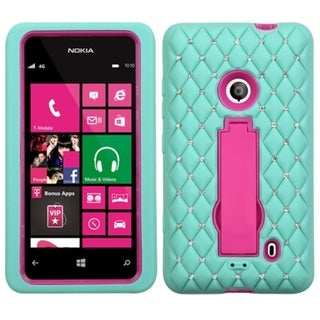 BasAcc Diamonds Stand Dual Layer Hybrid Case Cover for Nokia Lumia 521