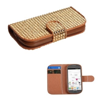 BasAcc Diamonds Card Slots Book-style Leather Case Cover for Samsung Galaxy Exhibit T599