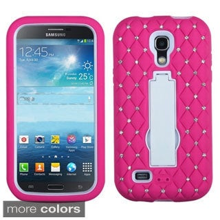 BasAcc Diamonds Stand Dual Layer Hybrid Case Cover for Samsung Galaxy S4 mini