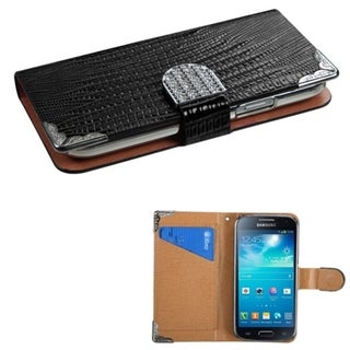 INSTEN Diamonds Card Slots Book-style Leather Phone Case Cover for Samsung Galaxy S4 mini