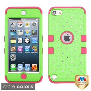 INSTEN Diamonds Dual Layer Hybrid iPod Case Cover for Apple iPod touch 5th gen
