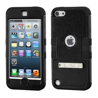 Insten Tuff Hard PC/ Silicone Dual Layer Hybrid Rubberized Matte Case Cover with Stand For Apple iPod Touch 5th/ 6th Gen