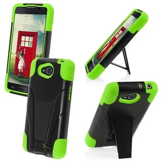 BasAcc High Impact Dual Layer Hybrid Case Cover for LG L90 / Optimus Exceed 2 W7