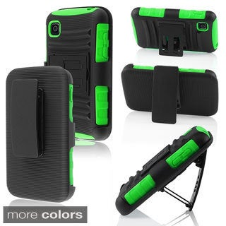 BasAcc High Impact Dual Layer Hybrid Case Cover for LG Optimus Dynamic II L39c