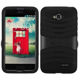 BasAcc High Impact Dual Layer Hybrid Case Cover for LG Optimus L70 MS323, Exceed 2 VS450PP Verizon