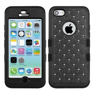 INSTEN Diamonds Dual Layer Hybrid Phone Case Cover for Apple iPhone5C