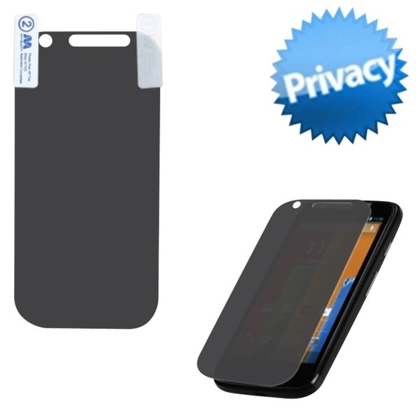INSTEN Privacy Filter/ Tempered Glass Screen Protector for Motorola Moto G