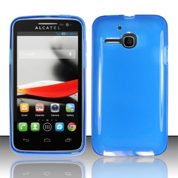 INSTEN TPU Gel Rubber Candy Skin Phone Case Cover for Alcatel One Touch Evolve 5020T
